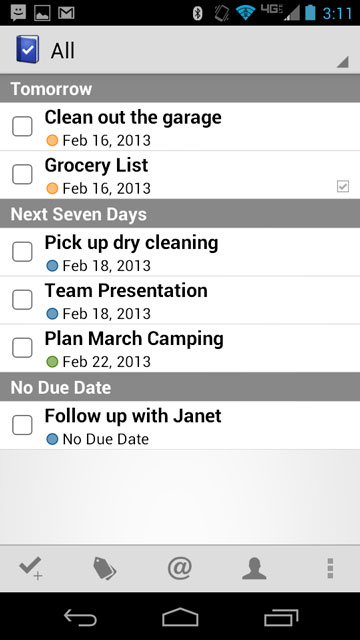 Screenshot of Todo Pro for Android - BETA 2